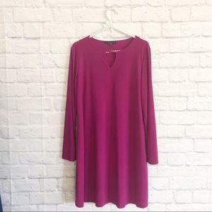 NWOT Tiana B maternity dress magenta sz L